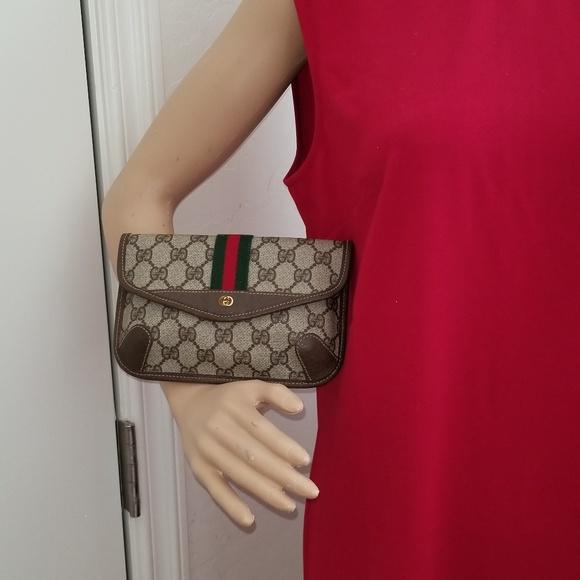 fe59f2d53ebd Gucci Bags | Vintage Gg Striped Clutch | Poshmark